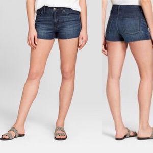 Universal Thread Shortie Shorts Frayed Hem Jean